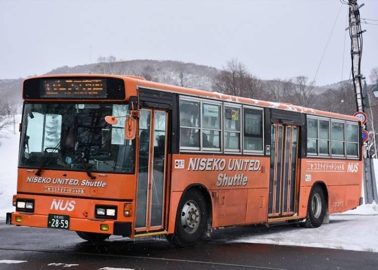 ■ニセコの主要な移動手段であるバス