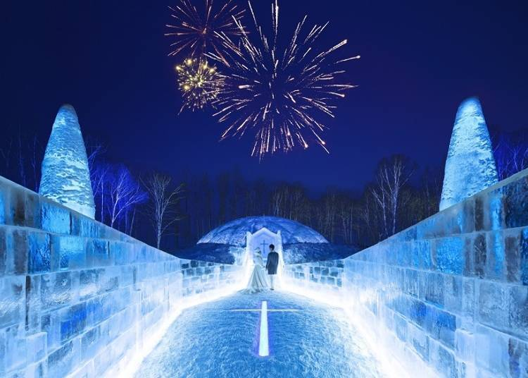 ■ Hold your wedding at the Ice Chapel in a pure white world