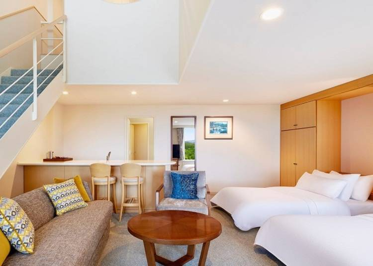 ■ Accommodations that let you to spend quality time even when the weather turns