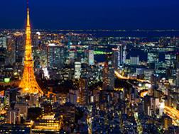 Roppongi Gaien Higashi Street and Tokyo Tower Area