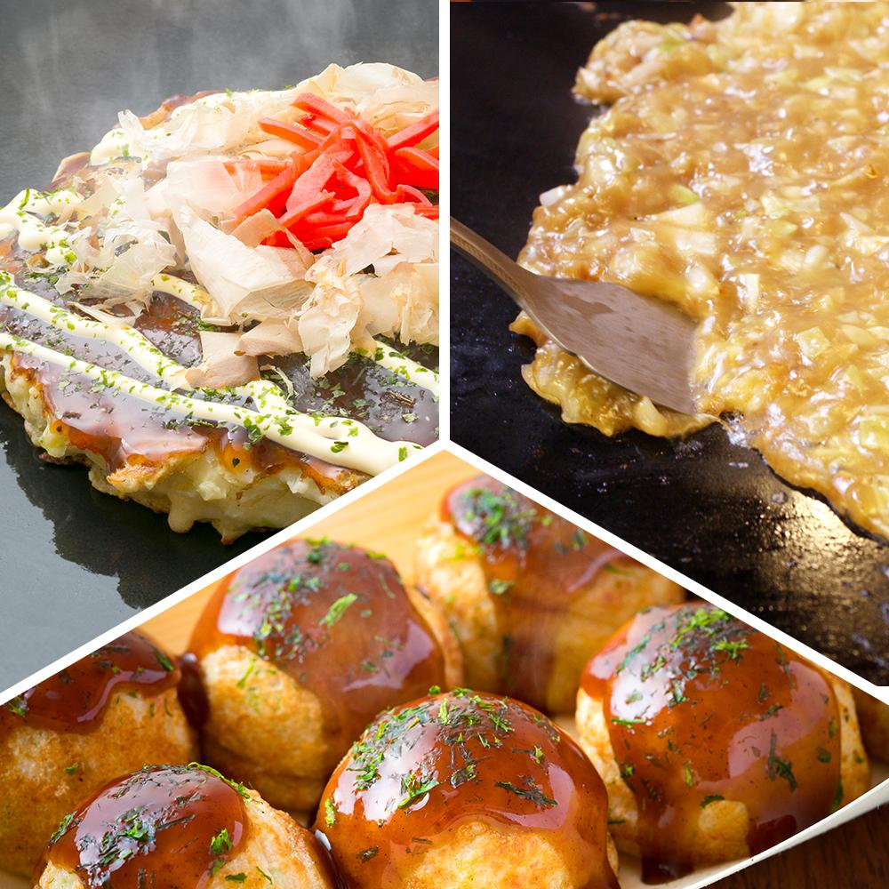 Okonomiyaki & Monjya & Takoyaki