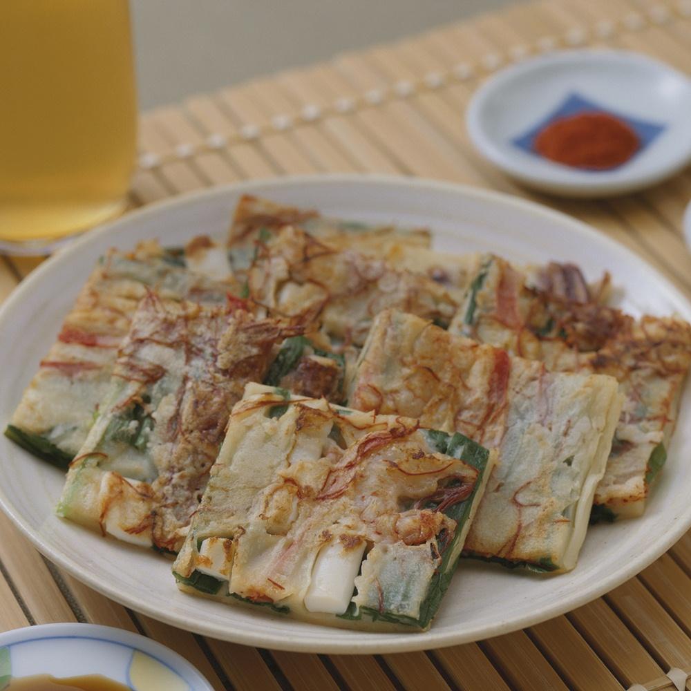 ข้าวยำและแพนเค้กเกาหลี
