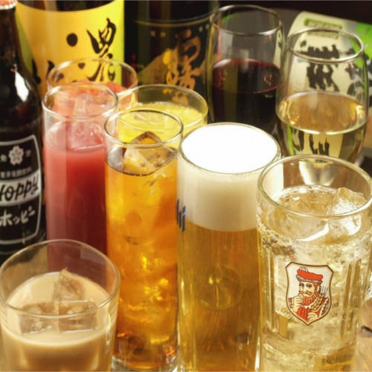 All-you-can-drink unlimited time 500JPY OFF