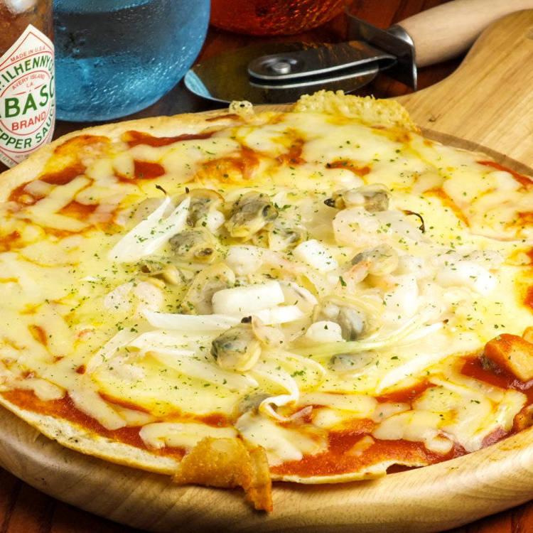 [For Sakura Petal holders]Sakura color! Receive a serving of Sakura Shrimp Pizza!1 free