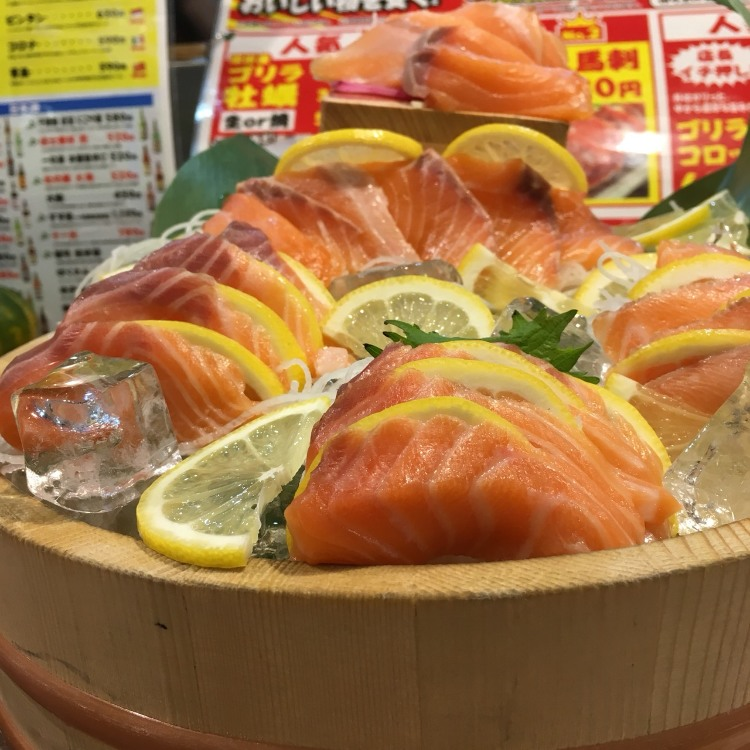 Give assorted salmon as gift