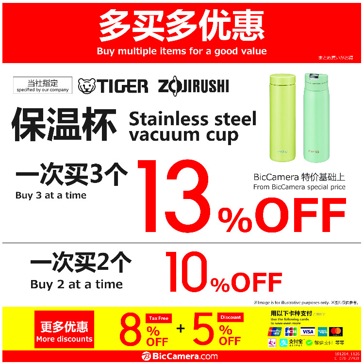 【MAX 13% OFF!】Stainless Bottle Multiple Purchase Discount Campaign