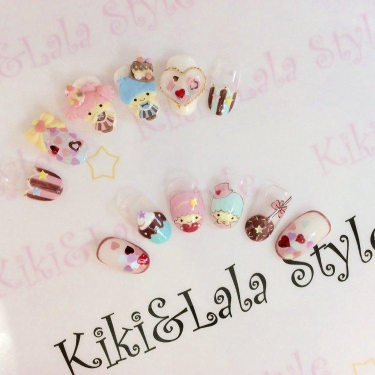 "3F Sanrio Certified Nail Shop ""Kiki & Lara Style"""