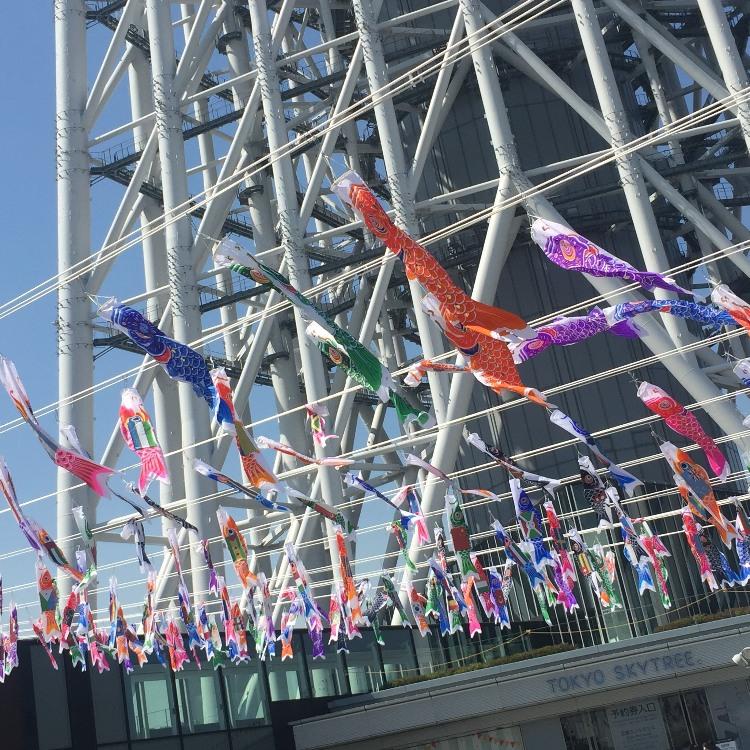 【來東京晴空塔城℠來欣賞鯉魚旗吧!】