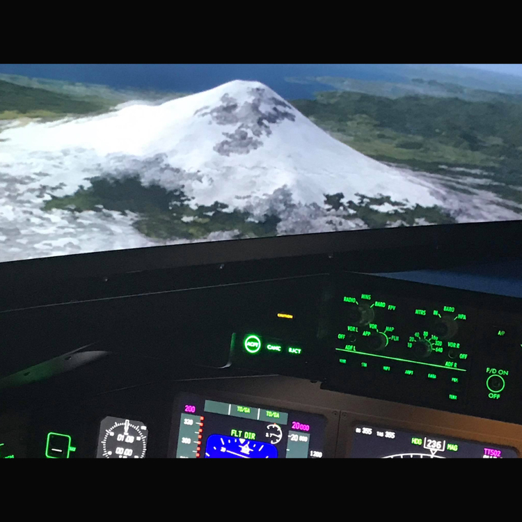 Top of Mount Fuji Flight Simulator Experience