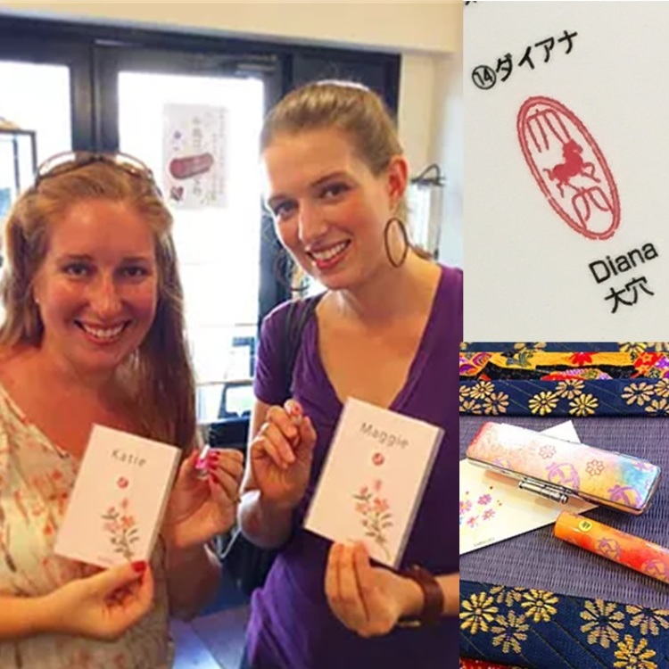 You can buy a Japanese sign of your name best suited for souvenirs.