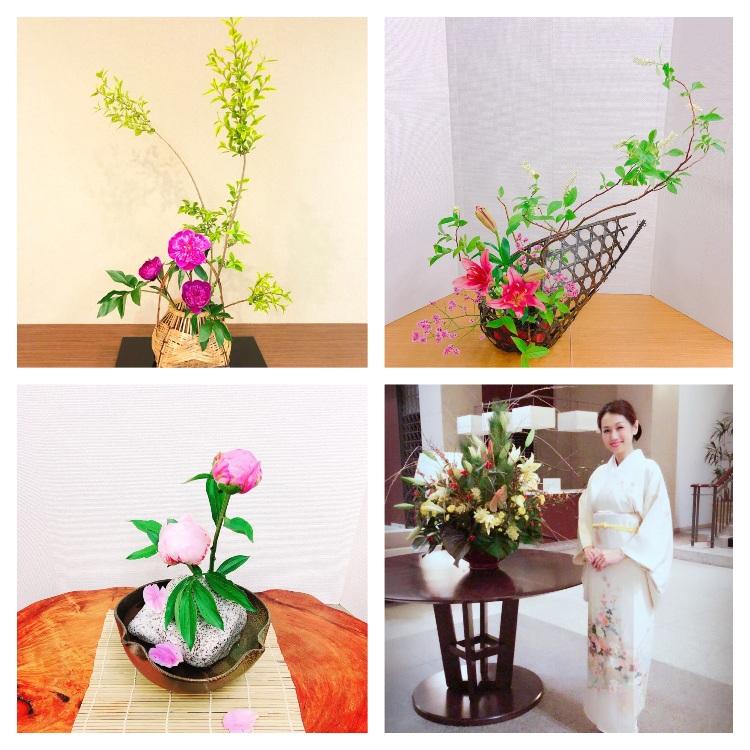 【Ikebana experience】 and dinner at Japanese food pub