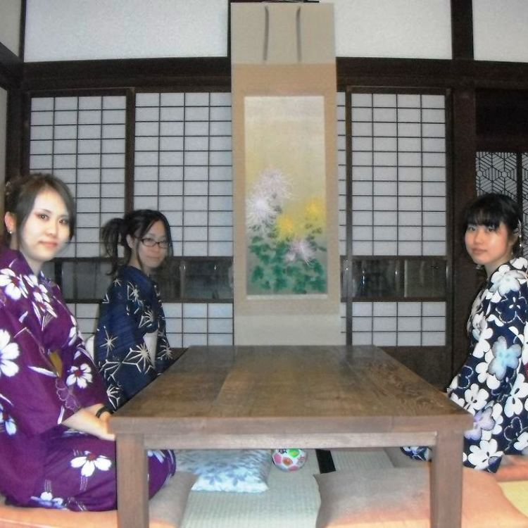 Take picture in a tradisional Japanese style room