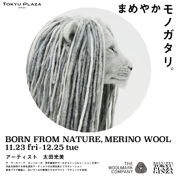 【11/23-12/25】举办BRON FROM NATURE, MERINO WOOL(*源于自然,美利奴羊毛)