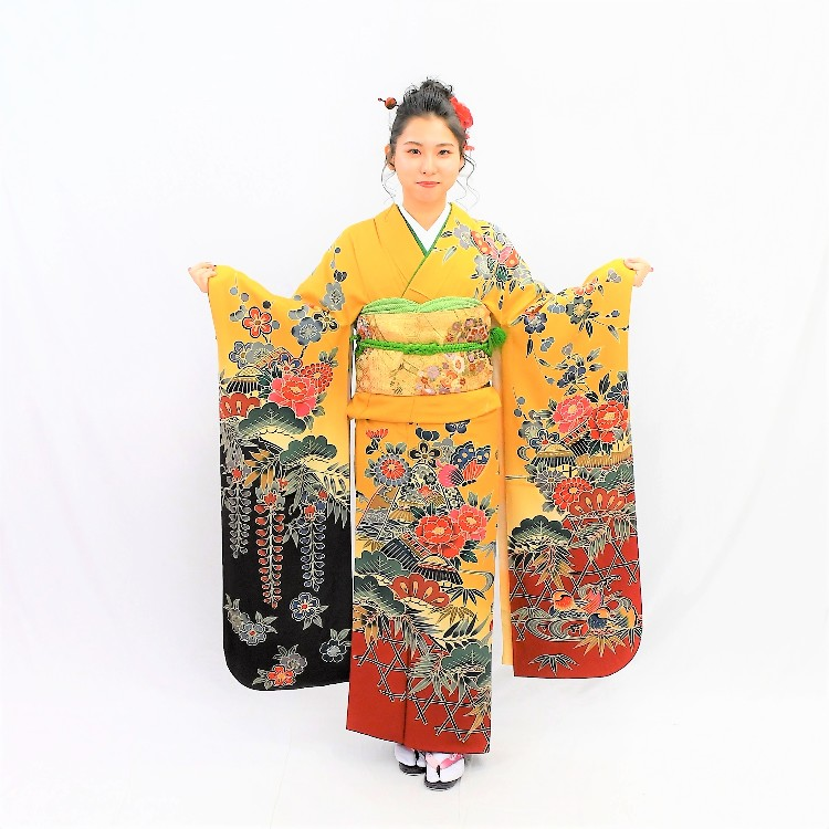 long-sleeved kimono(FURISODE)plan