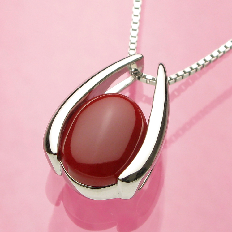 Made in Japan oxblood coal pendant