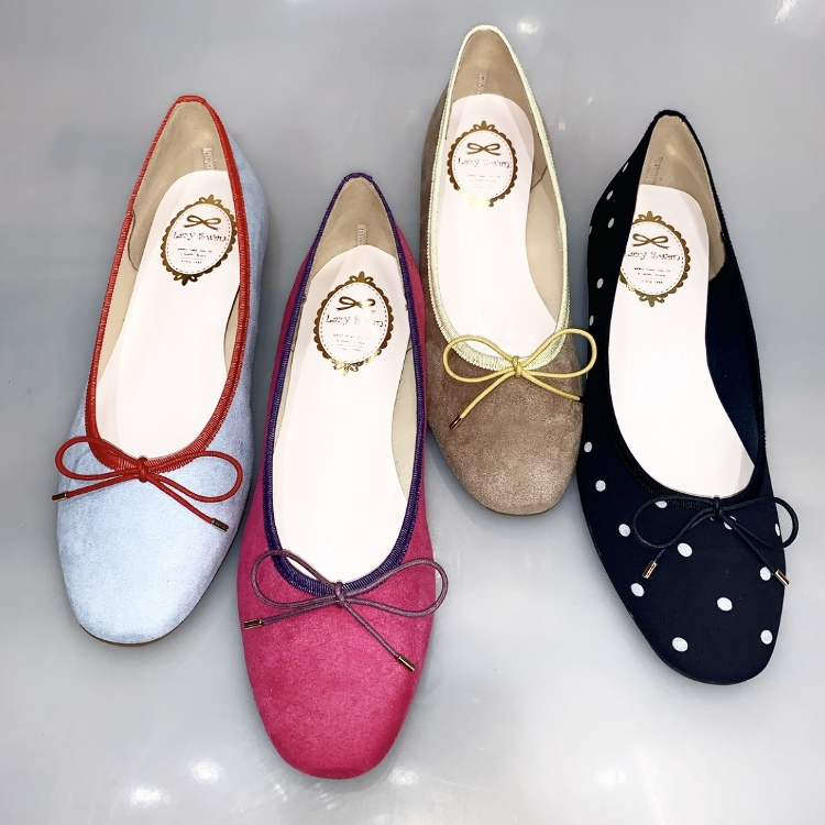 <4F LazySwan>2019S/S Square-toe ballet shoes