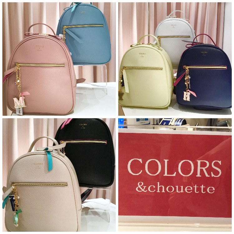 「COLORS &chouette」(EX.COLORS by Jennifer Sky)  Re arrival most popular back-pack!!  Do you know COLORS by Jennifer Sky's Round back-pack? They came back again with seven colors. Don,t miss it!!!!