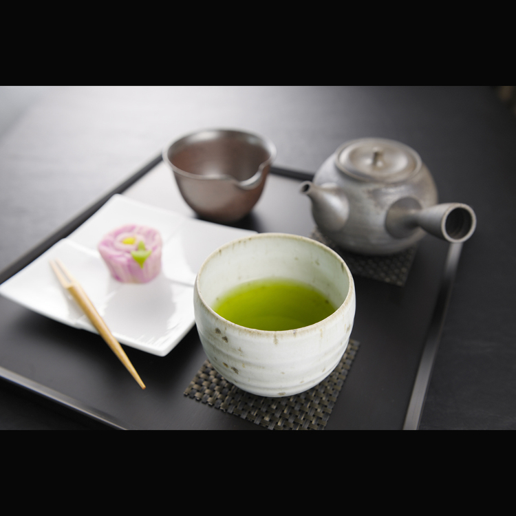 Sencha set with select confectionaries