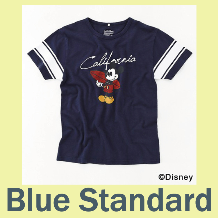 Disney Blue Standard collabolation-Tshirts
