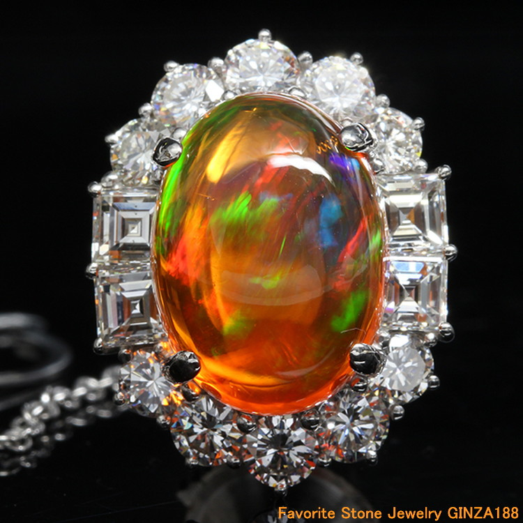9.195 ct fire opal tiepin