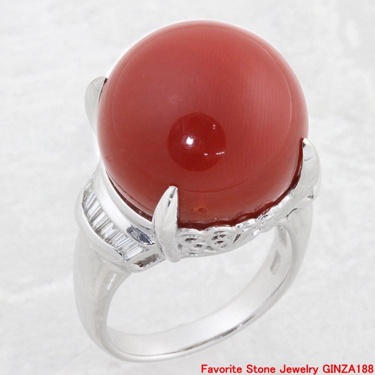 珊瑚 φ17mm 戒指