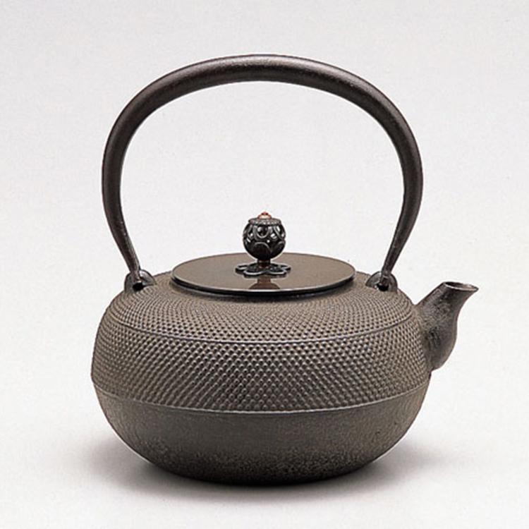 鐵茶壺 平丸筋霰 8合入