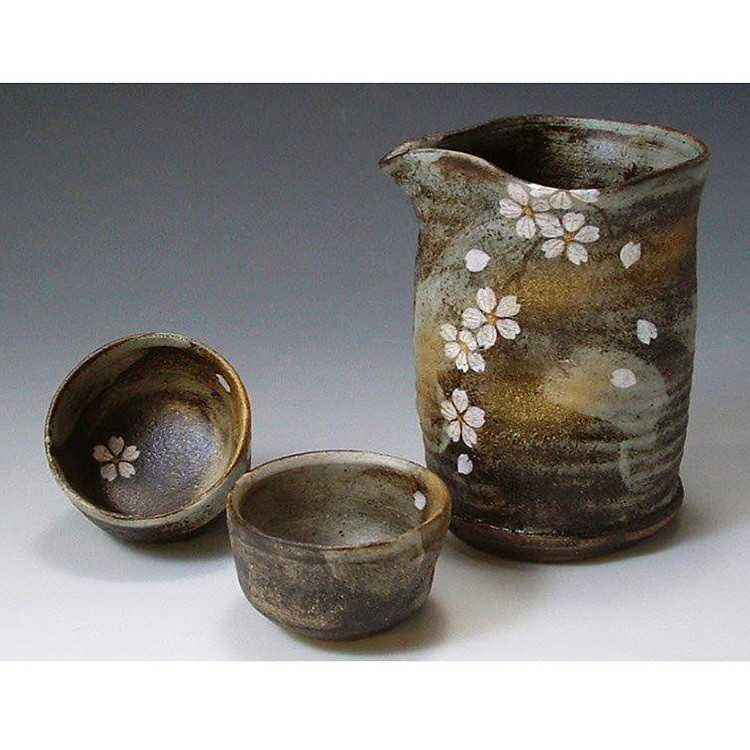 Sake Bottle and Cup Set