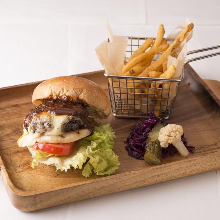 <Brick St. HangOut HangOver> a hamburger
