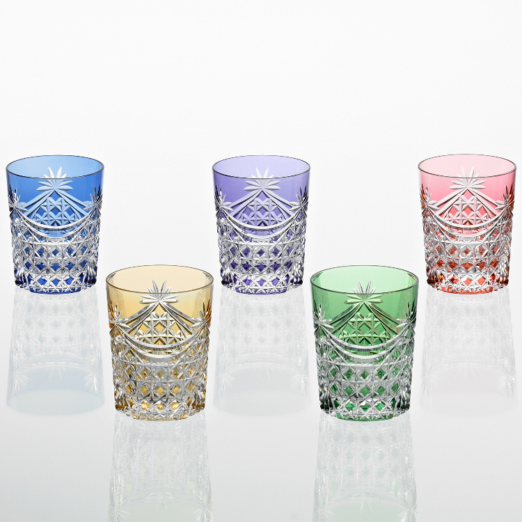 Edo kiriko, Old Fashioned glass set TS370-2835-5