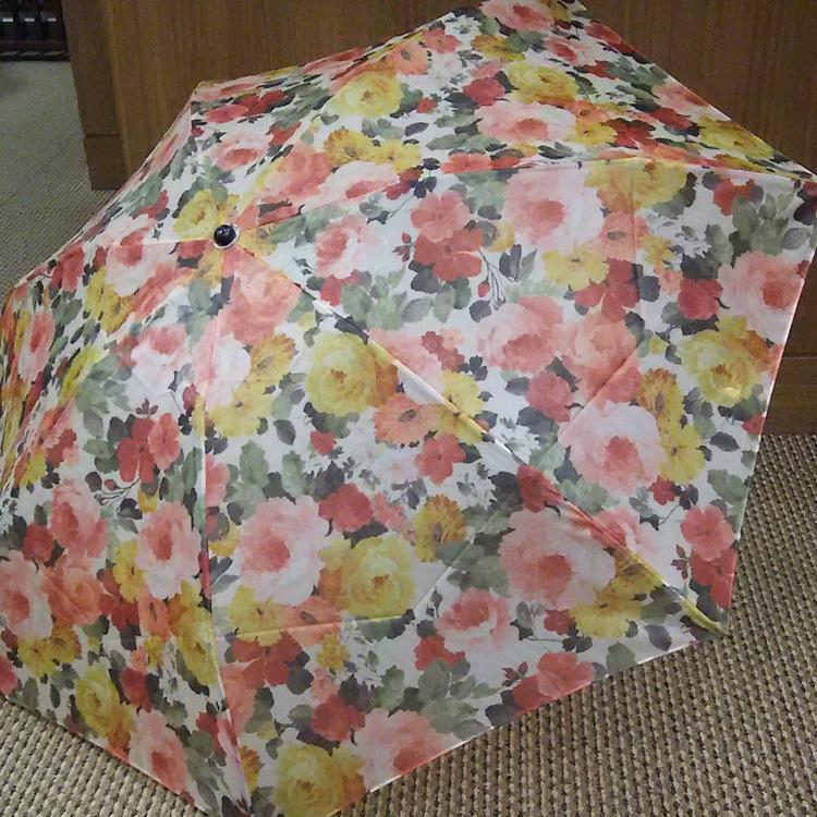 Organdie folding sunshade umbrella, ultra-lightweight (140 grams or lighter), offering UV protection, made in Japan