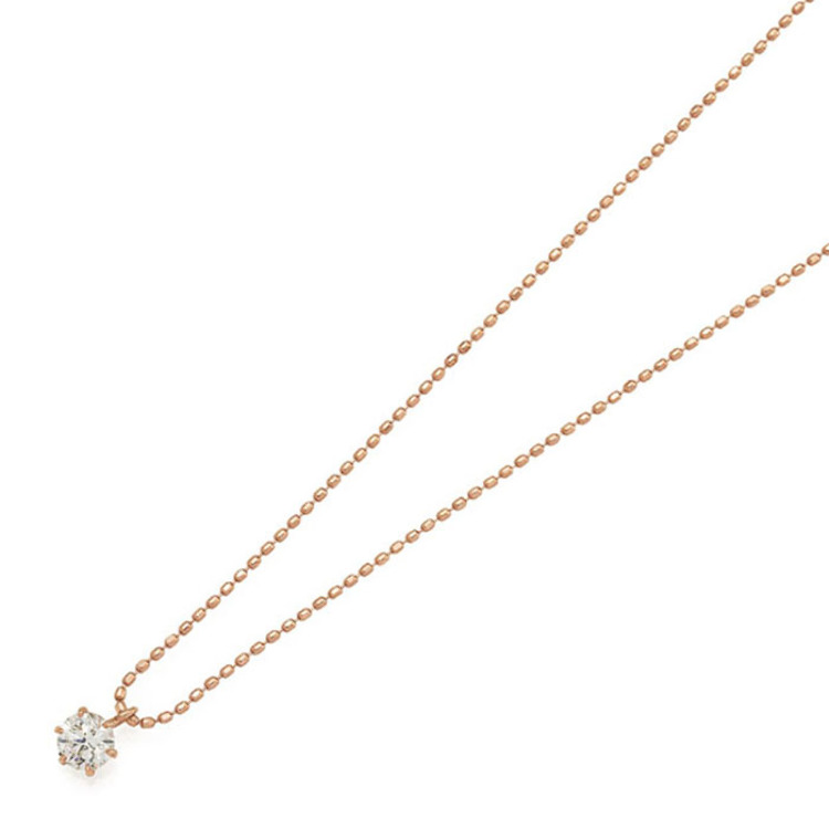 K18PG Diamond Petit Necklace