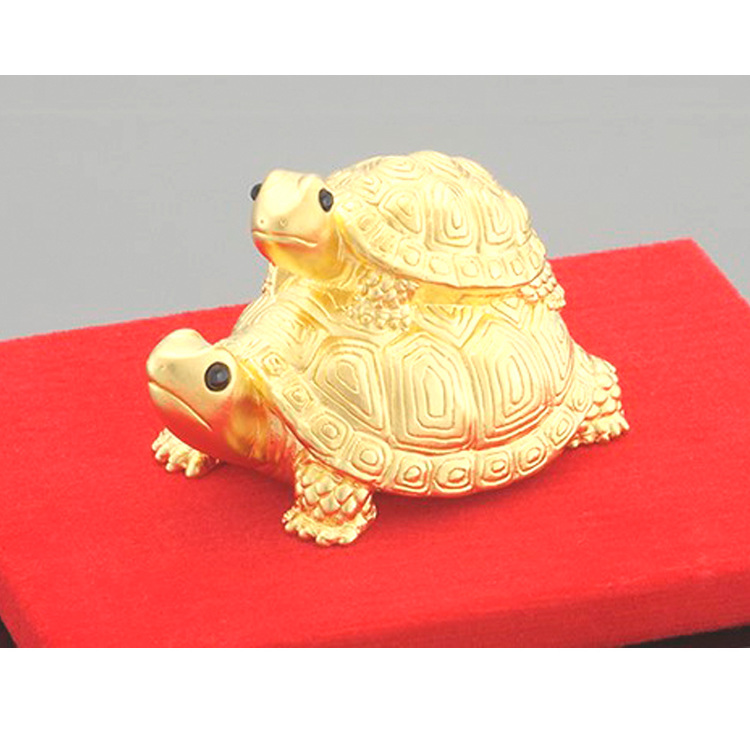 Traditional crafting K24 gold lucky turtle