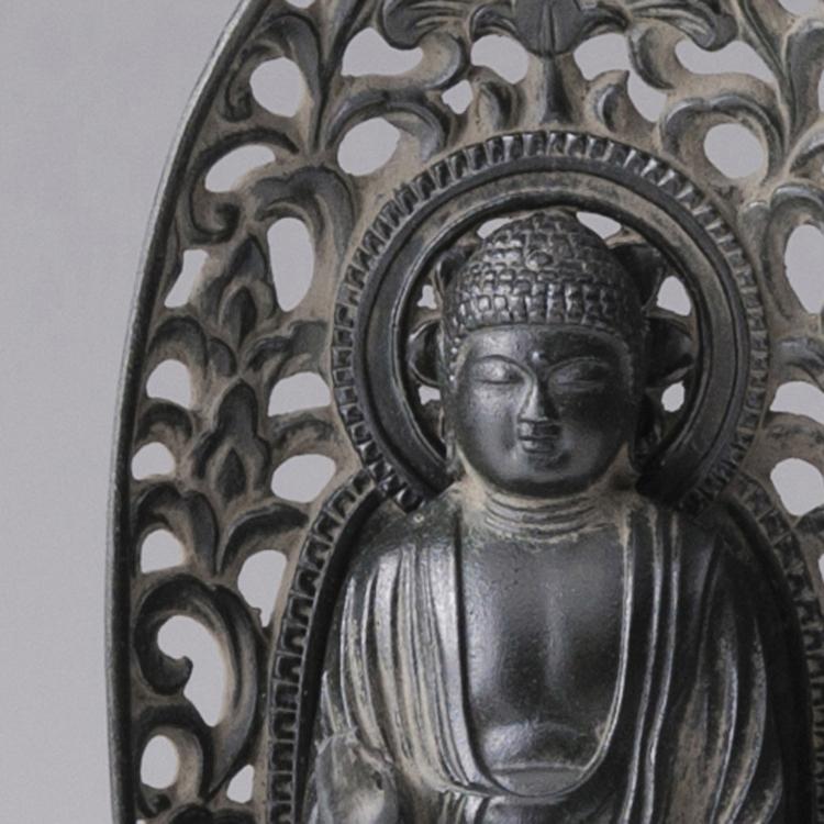 阿彌陀如來- 合金製 古色青銅加工 高岡銅器
