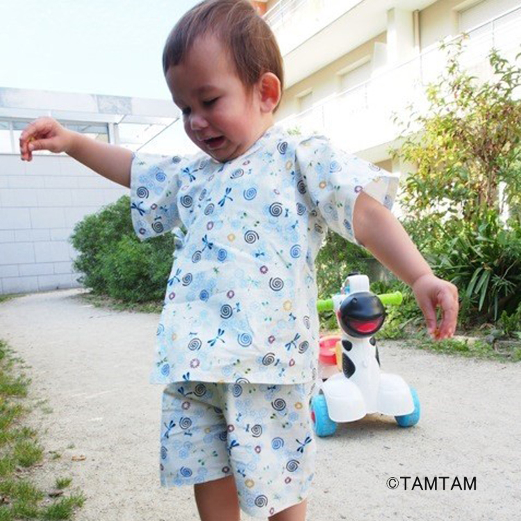 Jinbei (a set for children, Easy to wear, summer clothing)