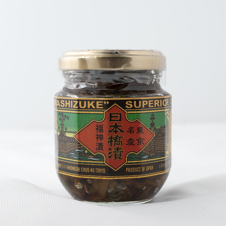 "NIHONBASHIDUKE(This Japanese-style veggie pickles called ""Fukujinzuke"" has been keeping its traditional taste since its release in 1913.)"