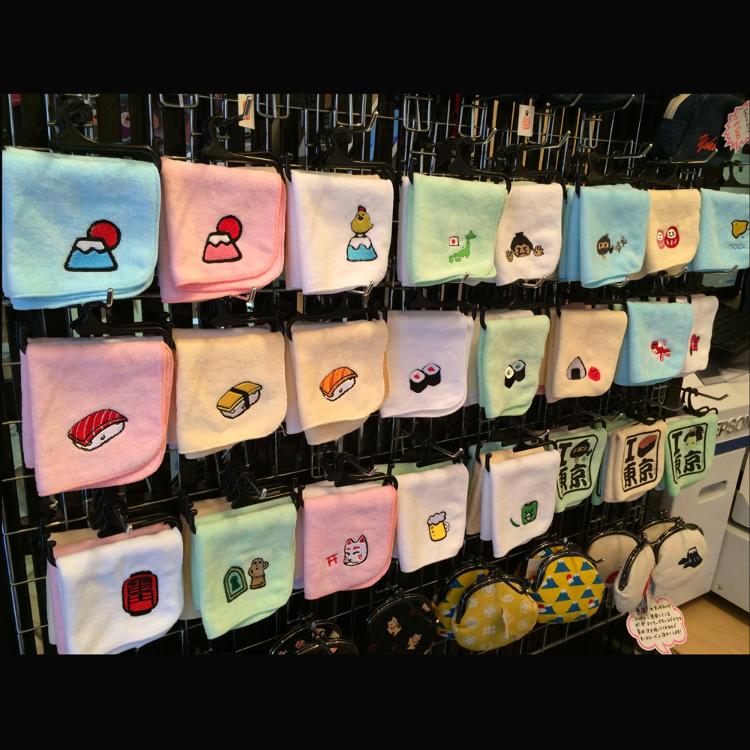 迷你手帕(有富士山、寿司等很多可爱的图案!刺绣OK)