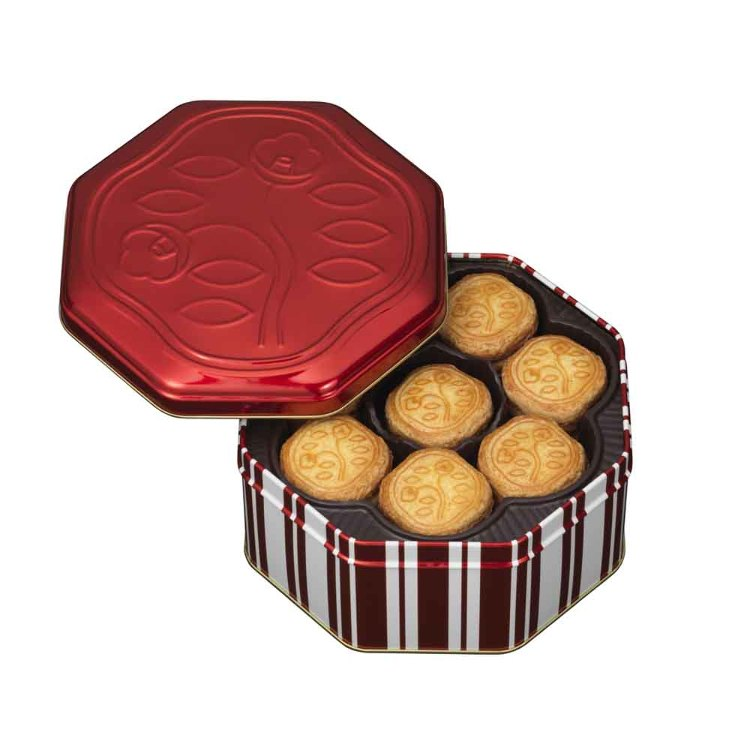 """Shiseido Parlour"" Hanatsubaki Biscuits – Pack of 48"