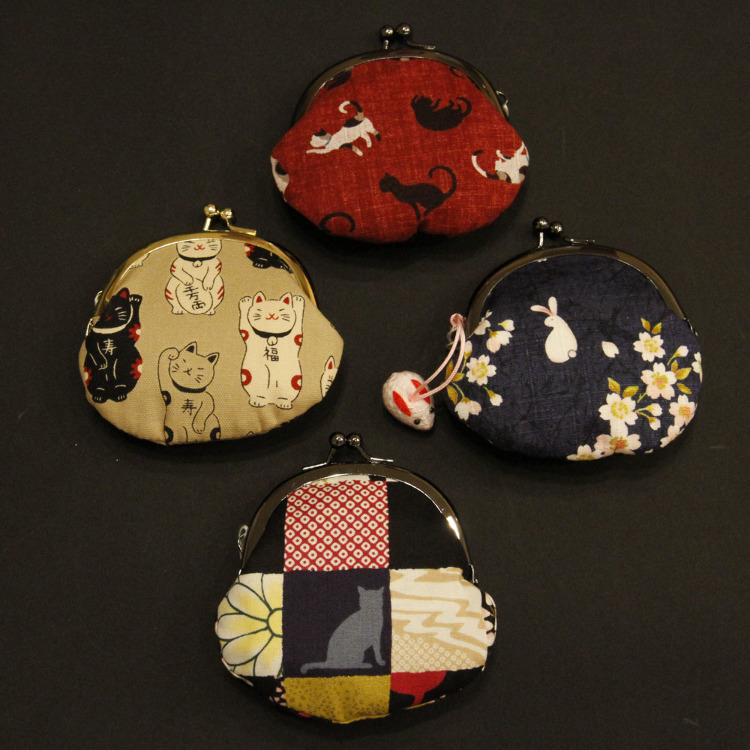 Various purses with metal clasps