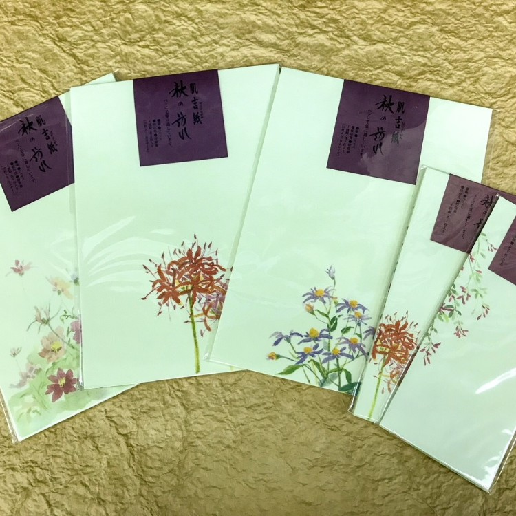 We are releasing our new Autumn flower and plant washi letter sets. They would be a perfect souvenir to bring back home and show others the beauty of Japan's Autumn.