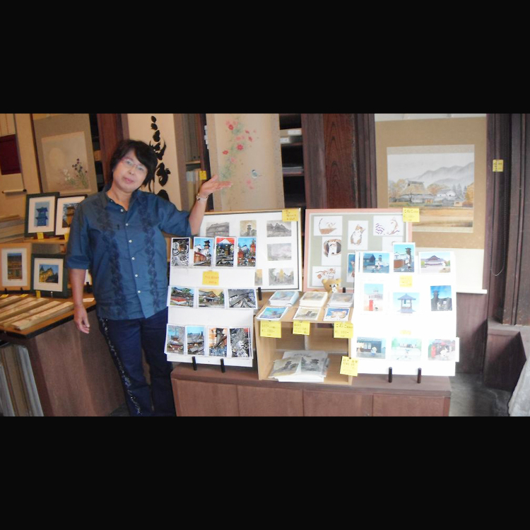 Picture postcards<br /> Fukazen is a great place to buy your picture postcards of such as the  scenery of Kawagoe.