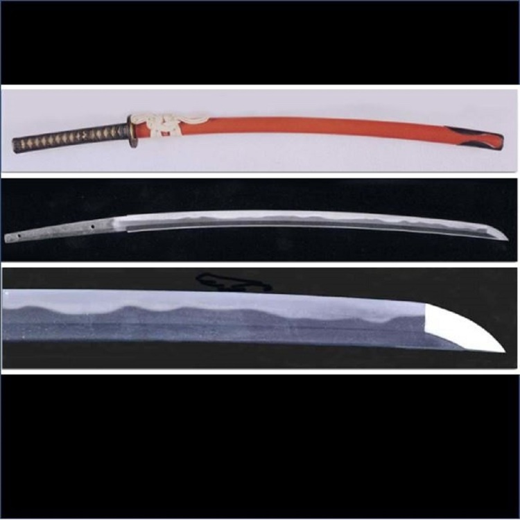 "Sword / Soshu ""(assumed Tsunahiro)"" includes vermillion Mounting (with NBTHK Hozon Paper)"