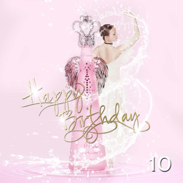 <フィリコ ジュエリーウォーター> 〜フィリコ ローザ〜 イタリア語でピンク・薔薇の意味を持ち、ライトローズのスワロフスキー®・クリスタルが輝く、プレゼントに人気のボトル。 made in japan