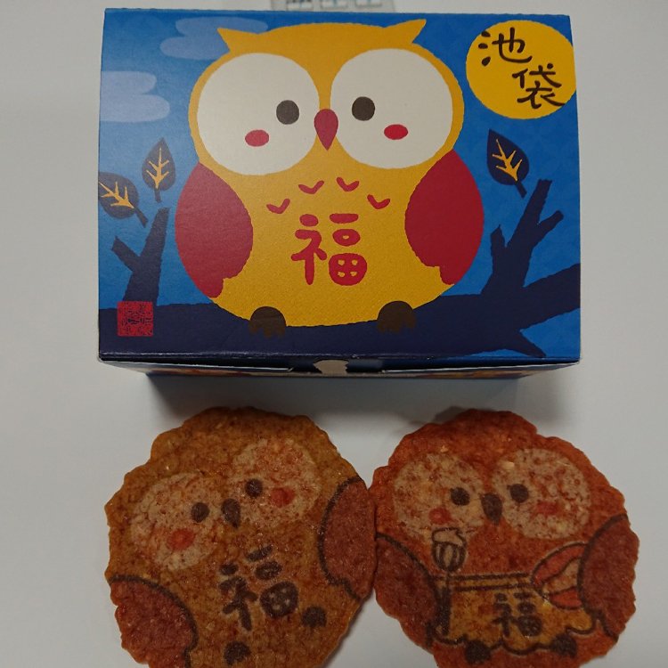 Keishindo Ikebukurowl shrimp crackers