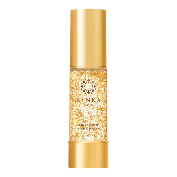 顶级奢华护肤产品 使用纯金箔制成的「箔一 金华金色 奈米高保湿美容液 N」 33mL