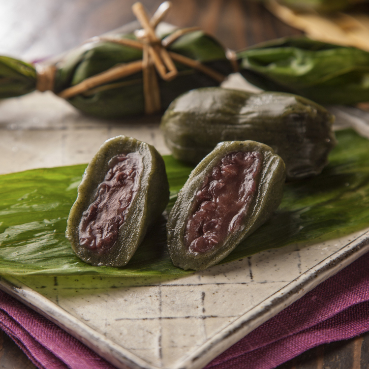 Sasa Dango &ndash; A Niigata specialty!<br /> (Yomogi (mugwort) mochi wrapped in bamboo leaves)