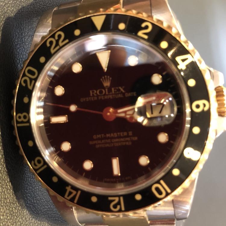 ROLEX GMT MASTERⅡ 16713 Mens Combination