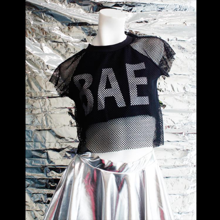 """BAE"" mesh pullover"