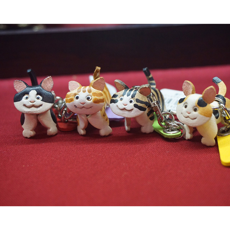 Leather Animal Straps & Key Rings (Made in Japan)