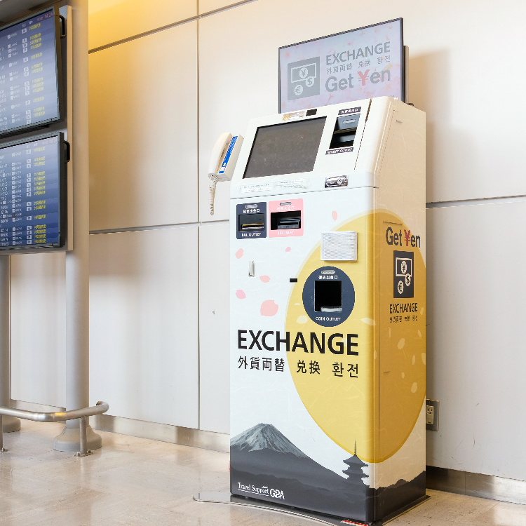 【Currency Exchange】Stores/Automatic currency purchasing machine