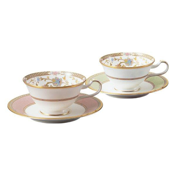 YOSHINO Tea/Coffee Cup & Saucer Pair Set (different colors)
